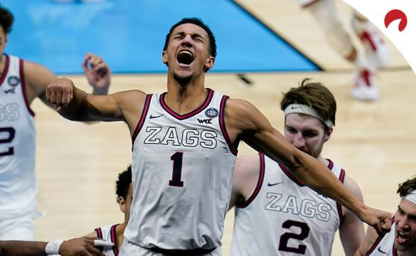 Jalen Suggs of the Gonzaga Bulldogs leads the odds for the NCAA Most Outstanding Player award.