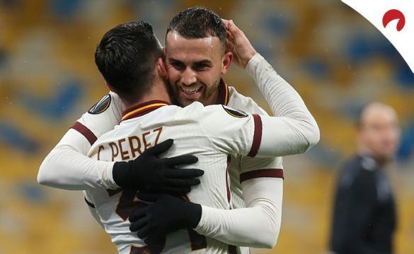 Borja Mayoral celebra su gol ante el Shakhtar. Conoce las cuotas del próximo Ajax Vs Roma.