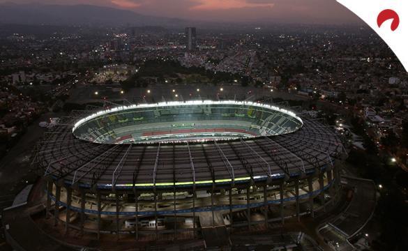Vista aérea del Estadio Azteca. Encuentra las cuotas del Cruz Azul Vs Chivas Guadalajara.