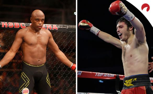 Julio Cesar Chavez Jr. (right) is favored in the Anderson Silva vs Julio Cesar Chavez Jr. odds.