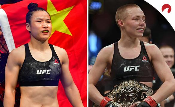 Zhang Weili (left) is favored in the Weili vs Namajunas odds at UFC 261.