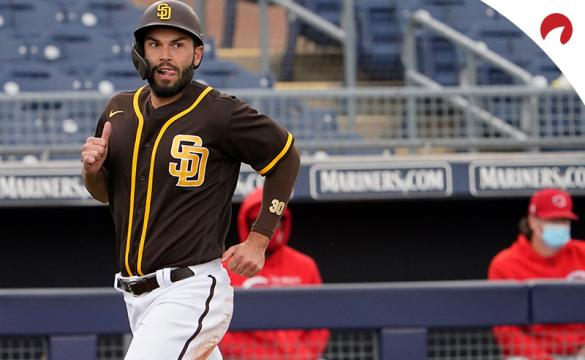 Eric Hosmer's Padres are favored in the San Diego vs Texas odds.