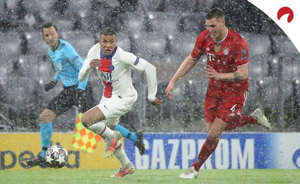 Kylian Mbappe conduce en carrera ante Niklas Suele. Conoce las cuotas del PSG Vs Bayern Múnich.