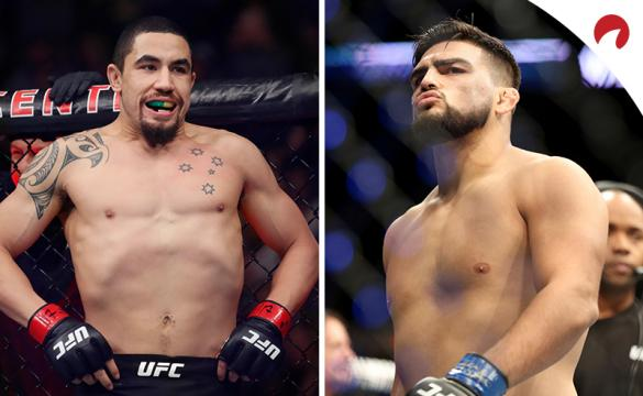 Robert Whittaker (left) is favored in the UFC Fight Night: Whittaker vs Gastelum odds.