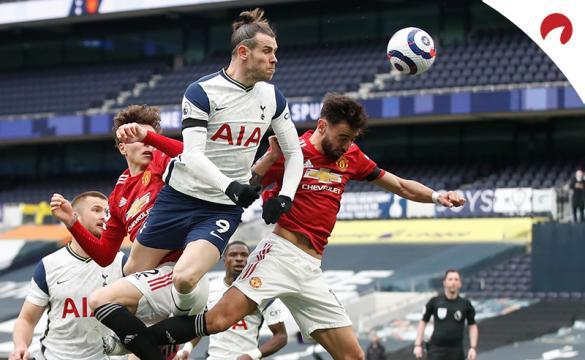 Gareth Bale remata de cabeza entre defensas del United. Conoce las cuotas del Everton Vs Tottenham.