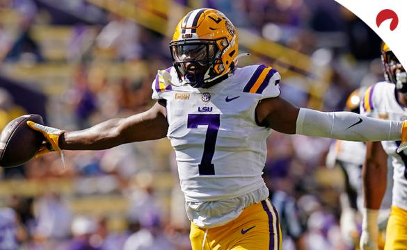Ja'Marr Chase of the LSU Tigers is a huge favorite to be the first wide receiver taken in the 2021 NFL Draft.