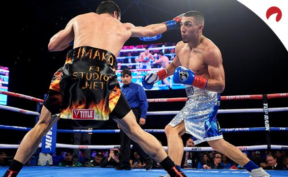Teofimo Lopez (right) is favored in the Teofimo Lopez vs George Kambosos Jr. odds.