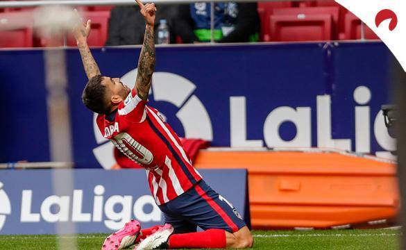 Ángel Correa celebra un nuevo gol. Conoce las cuotas del Athletic Club Vs Atlético de Madrid.