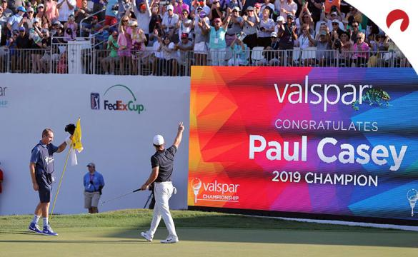 Seeking a three-peat, Paul Casey returns to the Valspar Championship with +2500 odds.