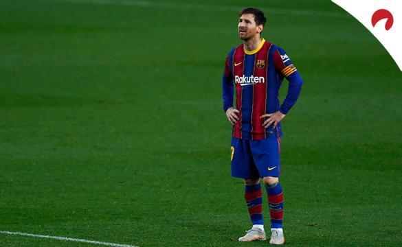 Messi se muestra decepcionado ante la última derrota. Conoce las cuotas del Valencia Vs Barcelona.