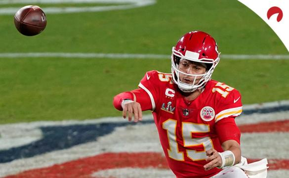 Patrick Mahomes leads NFL MVP odds with a price of +400 in sports betting markets.
