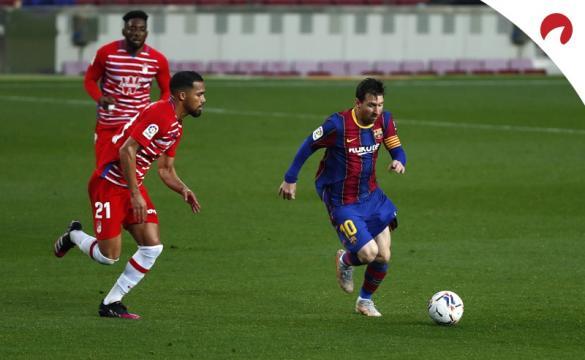 Messi no Barcelona em jogo de 29 de abril de 2021.