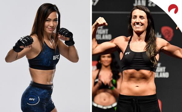 Marina Rodriguez (right) is favored in the UFC Fight Night: Waterson vs Rodriguez odds.