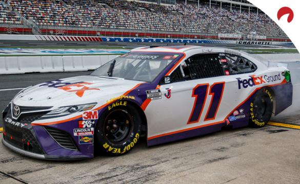 Denny Hamlin is the co-favorite to win in the Goodyear 400 odds.