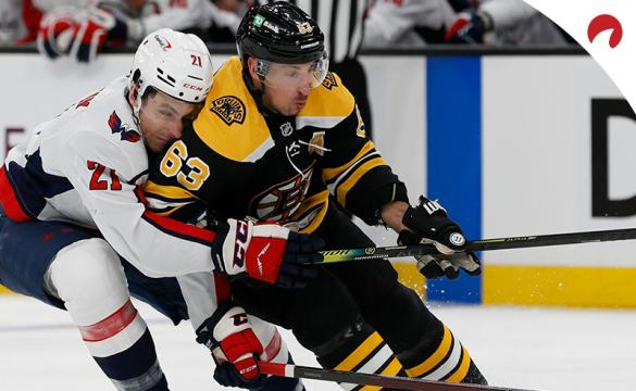 Brad Marchand and the Boston Bruins are slight moneyline underdogs in NHL betting odds for their game Tuesday night vs the Washington Capitals.