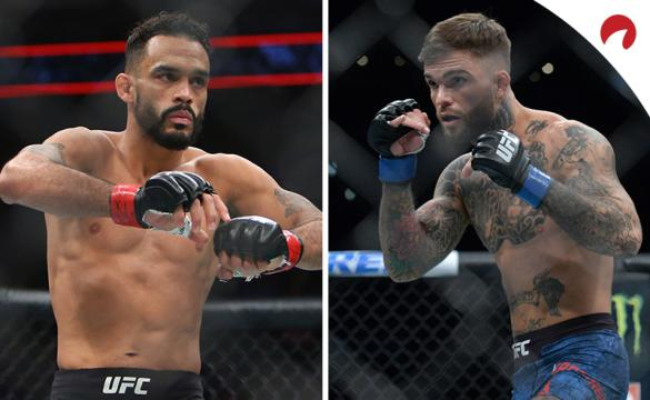 Rob Font (left) is favored in the Font vs Garbrandt odds for UFC Fight Night: Font vs Garbrandt.