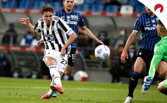 Federico Chiesa dispara a portería. Conoce las cuotas y pronósticos del Bolonia Vs Juventus de la Serie A TIM.