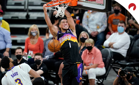 Devin Booker and the top-seeded Suns took care of the Los Angeles Lakers in Game 1 of their first-round series.