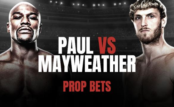 Here's a look at the Logan Paul (right) vs Floyd Mayweather (left) prop bets for their boxing match.