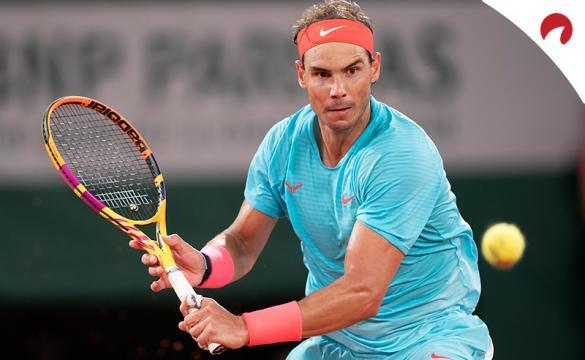 Rafa Nadal en un partido. El tenista vuelve a aparecer como favorito en las cuotas para ganar el Roland Garros 2021.