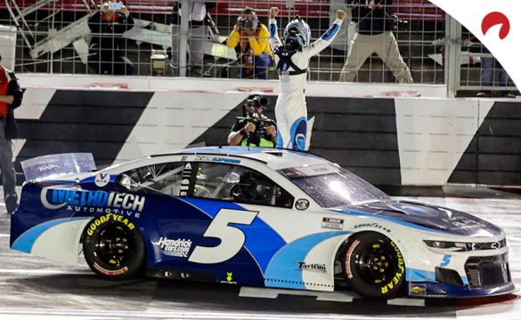 Kyle Larson is the favorite in the NASCAR Cup championship odds
