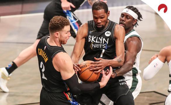 Kevin Durant con los Brooklyn Nets son favoritos por las casas de apuestas para ganar la NBA 2020/21.