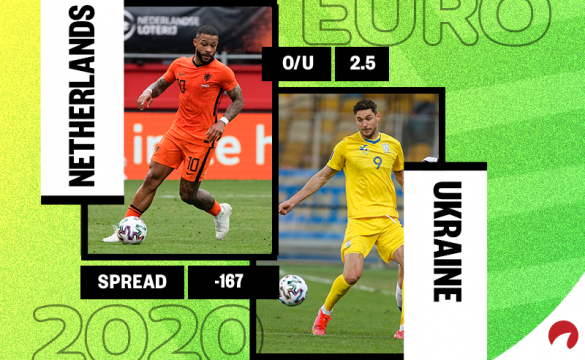 Netherlands is a big favorite over Ukraine in their Group C match on Sunday.