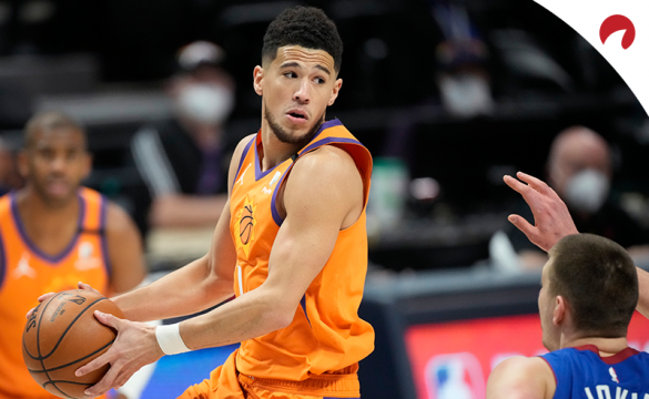 Devin Booker and the Suns look to complete the sweep over the Nuggets on Sunday.