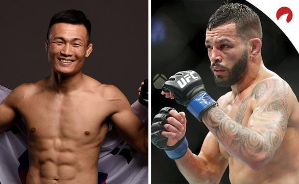 Korean Zombie (izq.) y Dan Ige (der.) se miden en el evento principal de UFC Fight Night: Zombie vs Ige.