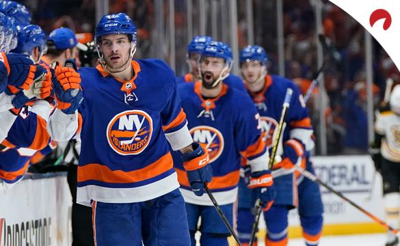 Mathew Barzal's (left) Islanders are underdogs in the Tampa Bay vs New York odds for June 19.
