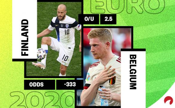 Belgium is favored in the Finland vs Belgium Euro 2020 odds.