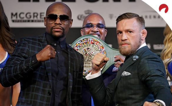 Floyd Mayweather (left) has the top top four most lucrative boxing matches.