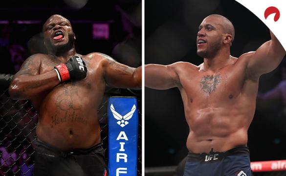 Ciryl Gane (right) is favored in the Lewis vs Gane odds for UFC 265.