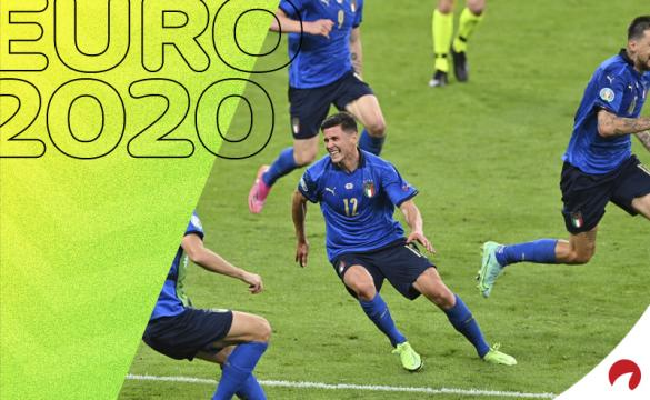 Matteo Pessina celebra el gol anotado frente a Austria. Cuotas para el Bélgica vs Italia, Euro 2020.