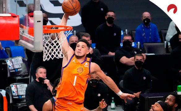 Devin Booker y los Phoenix Suns son favoritos por las casas de apuestas para ganar la NBA 2020/21
