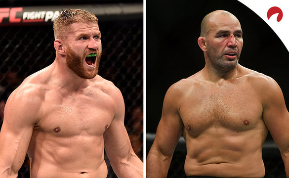 Jan Blachowicz (left) is favored in the Blachowicz vs Teixeira odds.