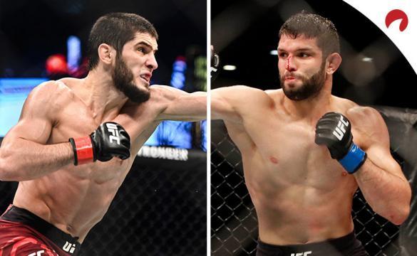Islam Makhachev (izquierda) es el favorito en las cuotas del próximo UFC Fight Night: Makhachev vs Moises.