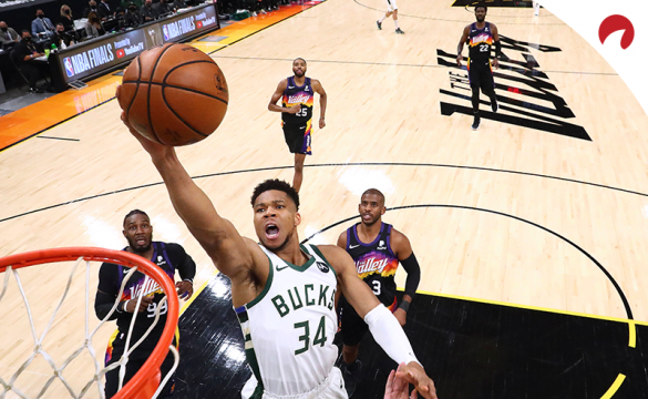 Giannis Antetokounmpo is the favorite in NBA Finals MVP odds.