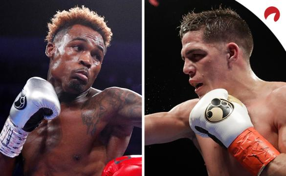 Jermell Charlo (left) is favored in the Charlo vs Castano (right) odds.