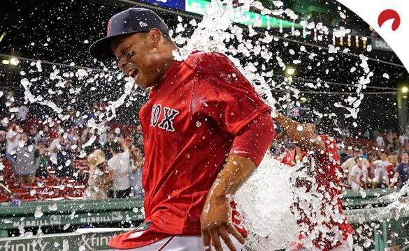Rafael Devers and the Boston Red Sox are favored in MLB betting odds vs the Toronto Blue Jays on Monday night.