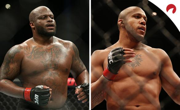 Ciryl Gane (right) is favored in the UFC 265 odds between Lewis (left) and Gane.