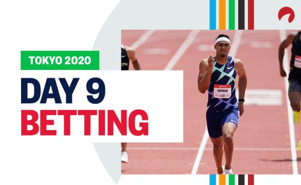 Michael Norman is favored in 400 meter race for Olympics Day 9 betting.