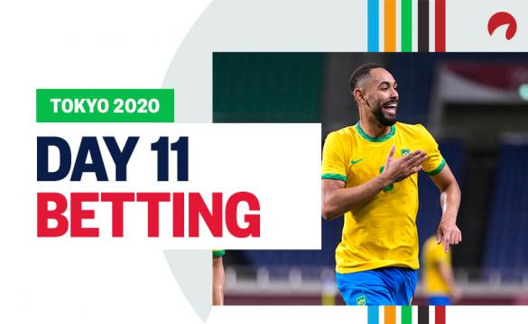 Matheus Cunha's team Brazil is favored and featured in Tokyo 2020 Day 11 Betting.