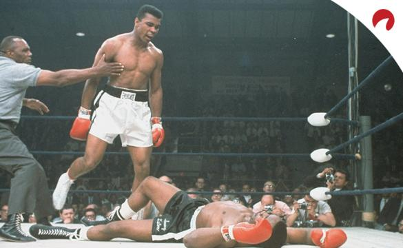 Muhammad Ali (left) tops the list for the greatest athletes of all time.