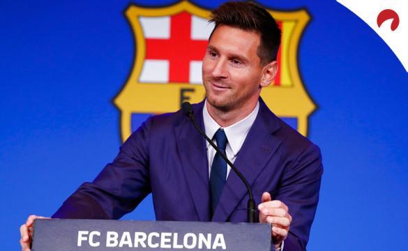Leo Messi se despide del Barcelona en la foto. Conoce los equipos candidatos a hacerse con sus servicios y las cuotas.