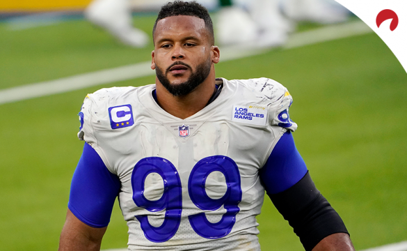 Rams defensive tackle Aaron Donald is the NFL Defensive Player of the Year odds leader.