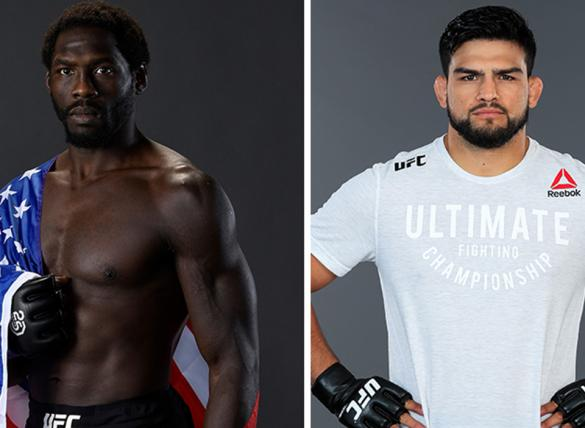 Jared Cannonier (left) is favored in the Cannonier vs Gastelum (right) odds.