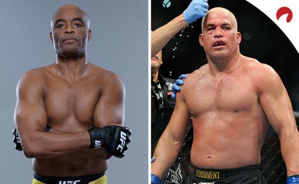 Anderson Silva (left) is favored in the Silva vs Ortiz (right) odds.