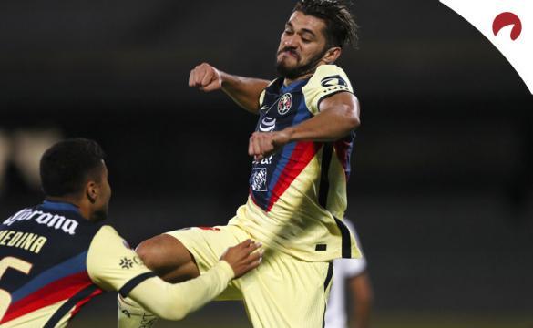 Henry Martín celebra un gol en la imagen. Cuotas de la sexta jornada del Apertura 2021 de la Liga MX