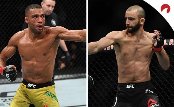 Barboza (izquierda) y Chikadze (derecha) se miden en el UFC Fight Night: Barboza vs Chikadze. Conoce los pronósticos.